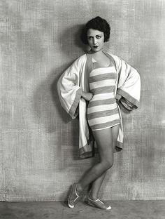 Dorothy Sebastian, late ~ Not a Mack Sennett Bathing Beauty. Dorothy was one of Buster Keaton's love interests. Madame Gres, Diesel Punk, Retro Mode, Mode Vintage, Vintage Swim, Vintage Ads, Vintage Style, Man Ray, Belle Epoque