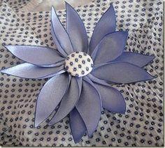 Ribbon Flower Tutorial  http://fabricbowsandmore.blogspot.com/2011/04/ribbon-flower-by-quick-unpick.html
