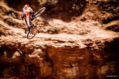 @kylestrait at Red Bull Rampage. #BikeMagPOD by @aledilullophotography. by bikemag