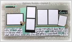 Scrapbooking Kits: Layout #3 of the Uptown Fundamentals Pre-cut, ready to…