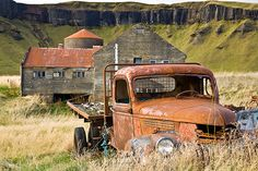 Old truck on a farm in Iceland