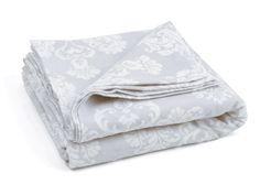 DAMASK GREY FLAT brushed Cotton sheet