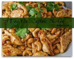 21 Day Fix Cashew Chicken