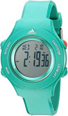 fe1a704473a Amazon.com: adidas Men's ADP3189 Urban Runner Digital Display Analog Quartz  Black Watch: Watches
