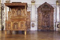 Brautbett im Goldenen Saal von Schloss Urach