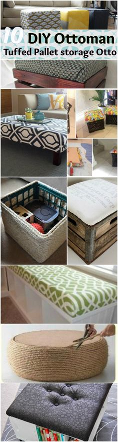 rustic pallet upholstered ottoman and footstool | Backyard ...