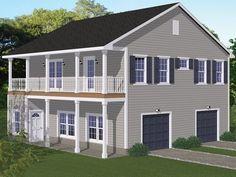 078G-0009: Two-Car Garage Apartment Plan