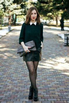 Black-zara-boots-forest-green-topshop-sweater-charcoal-gray-mango-bag