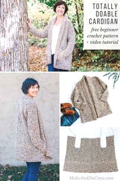 4fcd8690616c 63 Best Crochet Sweater and Cardigan Patterns for Women images in 2019