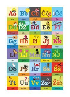 Preschool Projects, Preschool Education, Preschool Learning Activities, Alphabet Activities, Language Activities, Teaching Kids, Classroom Resources, Croatian Language, Subject And Verb