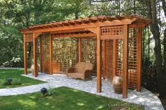 Trellis Structures designs Landscape & Garden Design Project Ideas | Project Difficulty: Medium MaritimeVintage.com #gardendesignideasprojects