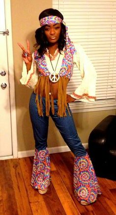 cute with a full shirt hippy girl costume  sc 1 st  Pinterest & 5 Easy Halloween Costumes - Hippy | Halloween in 2018 | Pinterest ...