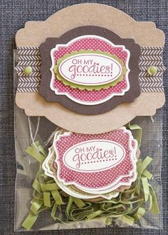 So Shelli - So Shelli Blog - My November Snack, Chat, and Stamp with Shelli Event (Oh My Goodies Stamp Set) Stampin' Up!