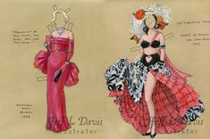 Jeff Davis Illustration *1500 free paper dolls at artist Arielle Gabriel's The International Paper Doll Society also free Asian paper dolls at The China Adventures of Arielle Gabriel *