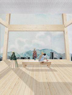12 modos de representar atmosferas arquitetônicas através de colagens,Projeto: Museo de la Memoria. Cortesia de Estudio Altiplano