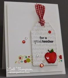 For a Special Teacher CAS, teacher, apple, tag Greeting Cards For Teachers, Teacher Thank You Cards, Teachers Day Gifts, Greeting Cards Handmade, Teacher Gifts, Scrapbooking, Scrapbook Cards, Thanks Teacher, Teacher Appreciation Cards