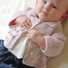 KNITTING PATTERN-Baby sweater with back opening and a cute little sleeveless top with front pleat and matching shoes Knitted Baby Cardigan, Baby Pullover, Knitting For Kids, Baby Knitting Patterns, Toddler Outfits, Kids Outfits, Brei Baby, Crochet Girls, Knit Picks