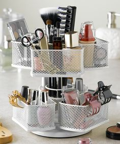 Makeup Carousel // perfect for hair care & beauty products too