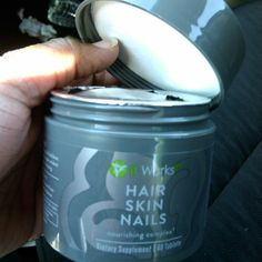 opening my bottle of It works HSN I cant wait to see how much my hair grows this month