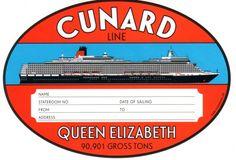 Vintage Cruise Line Luggage Sticker