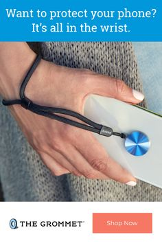 This phone wrist strap lets you keep a phone close at hand without the worry of losing your grip. The super-slim lanyard-style strap attaches to a phone or case, and the strap swivels to prevent any tangling. Cool Tech Gadgets, Cool Technology, Fitbit Flex, Interesting Stuff, Insight, Garage, Slim, Gift Ideas, Band