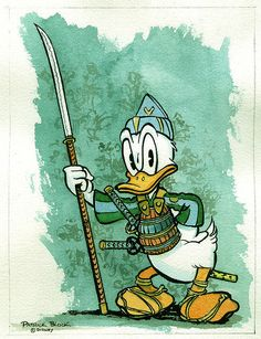 Samurai Donald Duck!