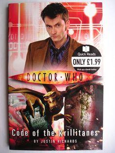 """Il romanzo breve """"Code of the Krillitanes"""" di Justin Richards è stato pubblicato per la prima volta nel 2010. È al momento inedito in Italia. Copertina della BBC. Clicca per leggere una recensione di questo romanzo breve!"""