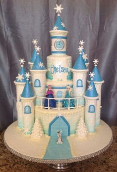 Frozen Castle Birthday Cake Ideas - Share this image!Save these frozen castle birthday cake ideas for later by share this Disney Frozen Castle, Frozen Castle Cake, Disney Frozen Birthday, Frozen Cake, Castle Cakes, Castle Birthday Cakes, Elsa Birthday Cake, Elsa Torte, Pastel Frozen