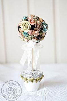 'Do Art Creativity': Prima Marketing - Flores Shabby Flowers, Real Flowers, Paper Flowers, Prima Marketing, Fun Crafts, Crafts For Kids, Paper Crafts, Pretty Roses, Table Flowers