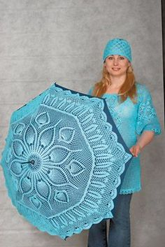 For some reason I really like this umbrella. Reminds me of granny I guess. Crochet Motif, Crochet Doilies, Crochet Lace, Lace Umbrella, Lace Parasol, Crochet Angels, Pineapple Crochet, Crochet Wedding, Yarn Stash