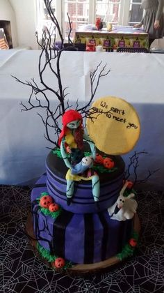 Nightmare Before Christmas Inspired Baby Shower Cake By Sablée! | CAKES |  Pinterest | Shower Cakes, Cake And Babies