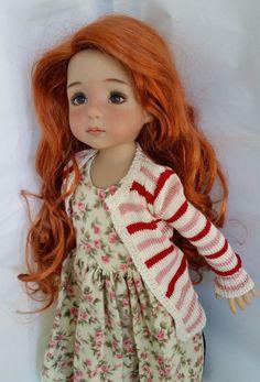 Monique Ginger Wig 7/8 for Effner Little Darling Kish BJD Dollstown Carrot Red #Monique