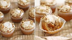 NEW Caramel Cream-Filled Cupcakes with Cinnamon Frosting