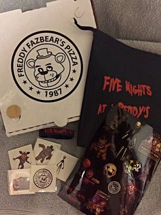 FIVE NIGHTS at FREDDY'S FNaF Birthday Party Favor Pack by sazzle13