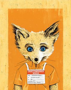 """Fox's """"Unaccompanied Minor"""" - Officially Signed, Dated and Hand-Stamped Art Print Wes Anderson Movies, Fantastic Mr Fox, Indie Art, Poster Prints, Art Prints, Mixed Media Artwork, Fox Art, Art Inspo, Vibrant Colors"""