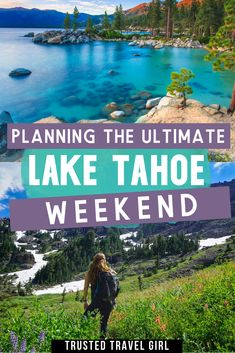 How to plan the ultimate weekend in Lake Tahoe California. How to see Tahoe in 48 hours! Lake Tahoe is an amazing place to visit anytime of the year. Check out my Lake Tahoe travel guide for what not to miss during a Tahoe weekend getaway. Usa Travel Guide, Travel Usa, Travel Tips, Travel Ideas, Usa Roadtrip, Travel Goals, Canada Travel, Travel Packing, Budget Travel