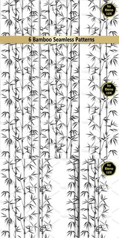 Chinese Design, Textile Prints, Bamboo, Tropical, Curtains, Shower, Black And White, Wallpaper, Pattern