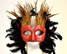 Islander Hand Recycled Paper Masquerade Mask by TARAIZE on Etsy, $85.00