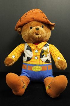 Disney Toy Story Woody Doll in Teddy Bear Stuffed Animal Cowboy Sheriff Costume in Toys & Hobbies, Stuffed Animals, Disney   eBay