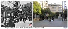 Plaça de l'Ajuntament, Sant Jordi de 1970 y en la actualidad