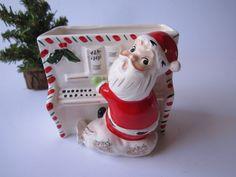 Vintage Napco Santa Piano Planter - Holiday Fun