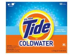 Ultra Tide Coldwater powder ($8; 52 cents per load*) removed more stains in cold water than other detergents got out in hot--great news for delicate fabrics and for your water-heating bill.