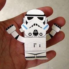 stormtrooper printable star wars toys 3d paper craft yoda darth vader free