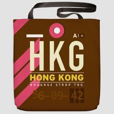 HKG - Tote Bag Hong Kong Airport - Chek Lap Kok, Hong Kong