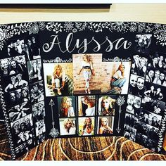 Graduation Parties 776519160734760668 - Picture display board for senior photos, ideas for graduation party or senior night at the high school. Also can be used for any other events like birthdays, retirement parties, engagement parties, ect. Graduation Party Planning, Graduation Celebration, Graduation Decorations, Graduation Table Centerpieces, Banquet Decorations, Graduation Picture Boards, Graduation Photos, Graduation Ideas, Graduation Photo Displays