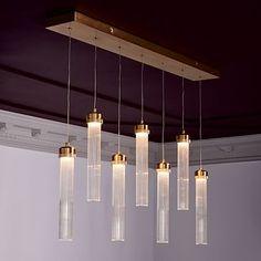 Fluted Cylinder LED Chandelier #westelm