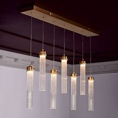 Fluted Cylinder LED Chandelier for over dining room table