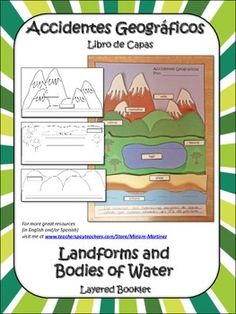 Your kids will love putting together this layered booklet while learning all about the most common landforms and bodies of water in our planet.Once finished, it can be pasted into their Science or Social Studies interactive notebook. (Ideal para el cuaderno interactivo de Ciencias Naturales o de Estudios Sociales).This resource includes everything you need to make a booklet whether in English or Spanish, so it can be used by either bilingual classes or classes taught completely in English.