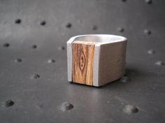 Ring (zebrano wood and silver).