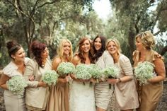 5. Country Rustic Bridesmaids…  Photo Credit To keep your country rustic theme flowing through your big day from the trees at your ceremony to your barn reception, match …